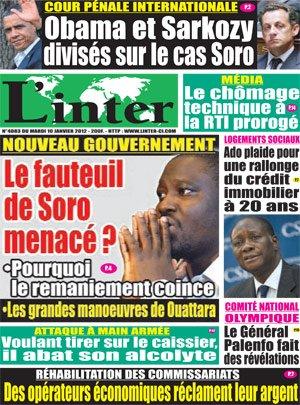 Cour Pénale Internationale : Obama et Sarkozy divisés sur le cas Soro 20120110_linter_4083